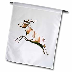 3dRose fl_37127_1 Addax Antelope Garden Flag, 12 by 18-Inch