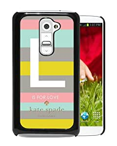 Personalized Design With Kate Spade 133 Black LG G2 Protective Cover Case