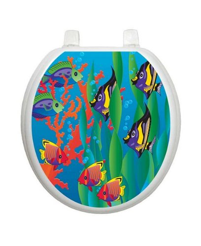 Under The Sea TT-1800-R Round Beach Theme Cover Bathroom by Toilet Tattoo