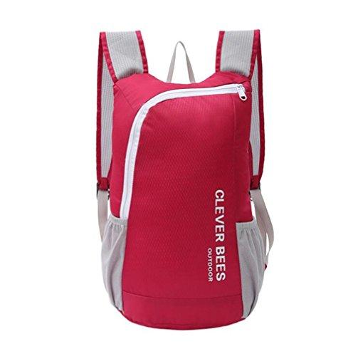 Wmshpeds Bolso de hombro bolso de viaje pareja al aire libre plegable bolsa de hombro plegable mochila viaje plegable bolsa de hombro C