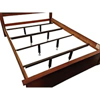 Queen Heavy Duty/Waterbed Center Supports for Beds with Wood Side Rails 8-18 height