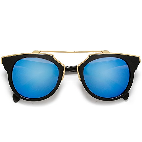 Designer Inspired 49mm Pantos Shape Extremely Real Sophisticated Sleek Gold Brow Bar Fashion - Spot Sunglass