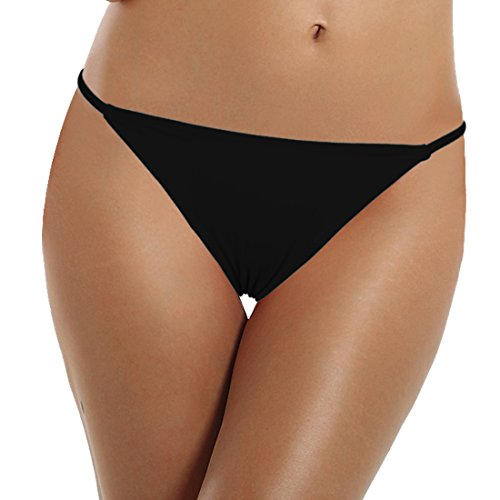 Reteron Women's Sexy String Side Bathing Suit Bottoms 2 Pack (Black DarkRed, XL) by Reteron (Image #1)