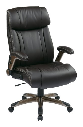 Office Star High Back Bonded Leather Executives Chair with P