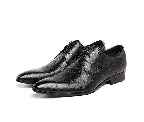Vestir Tamaño color Boda Acogedor Zapatos Pequeño 37 De Cuero 37 Tienen Los Negro Hombres Cordones Británicos RBawqp5