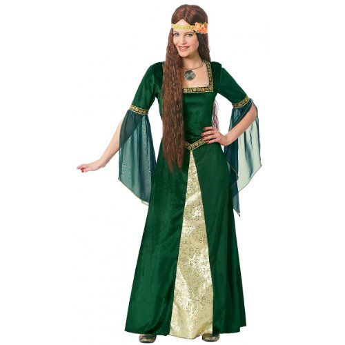 [Costume Culture Women's Renaissance Lady Costume, Green, Large] (Fiona Adult Costumes)