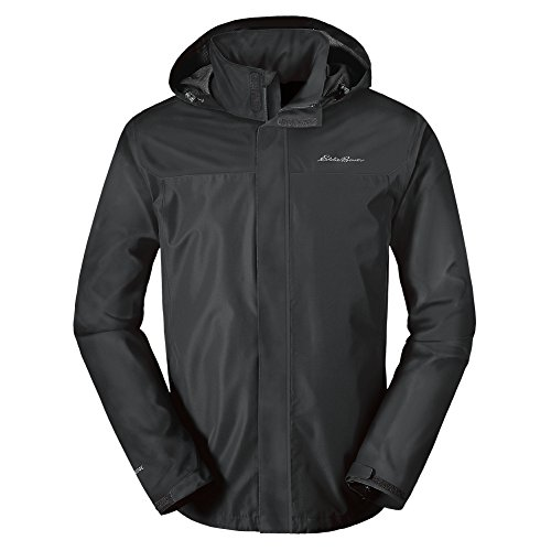 Eddie Bauer Men's Rainfoil Packable Jacket, Dk Smoke Regular M by Eddie Bauer