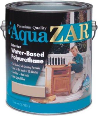 (Aqua Zar Water-Based Polyurethane Finish Water Based Clear Gloss 1)