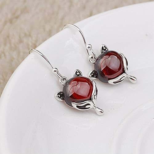 d073a462aaf90 Amazon.com: Drop Earrings For Women, Fox Earrings, Natural Red ...