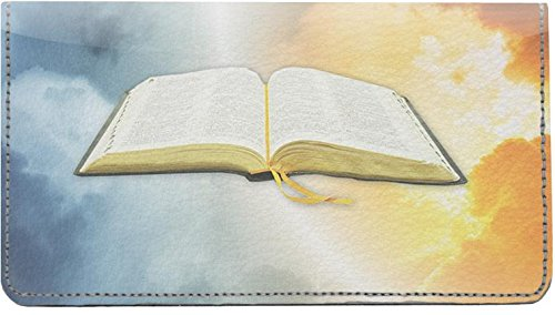 Holy Bible Leather Checkbook - Cover Checkbook Angels Leather