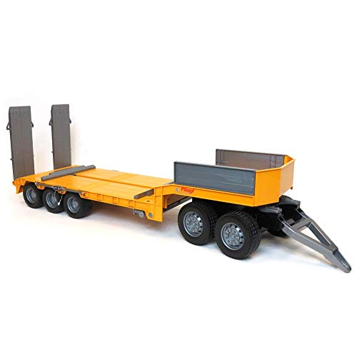 1/16 Bruder Fliegl Tri-axle Low Loader Trailer and ()