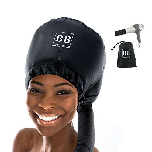 Bonnet Hood Hair Dryer Attachment - Extra Large Adjustable Hair Dryer Attachment for Handheld Hair Dryer - for Natural Textured Curly Hair - Deep Conditioning and Drying Heat Cap - Bonnet Buddy