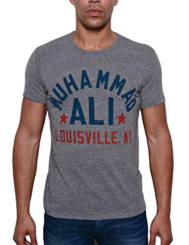 Roots of Fight Officially Licensed Men's Muhammad Ali Float Quote Triblend Tee Shirt, Size Large