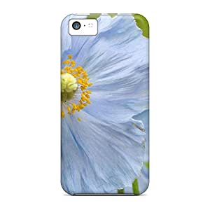 Case Cover Blue Poppy Flowers/ Fashionable Case For Iphone 5c
