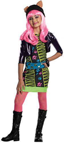 Childs Girls Monster High Howleen Wolf Costume And Wig Bundle Large 12-14 ()