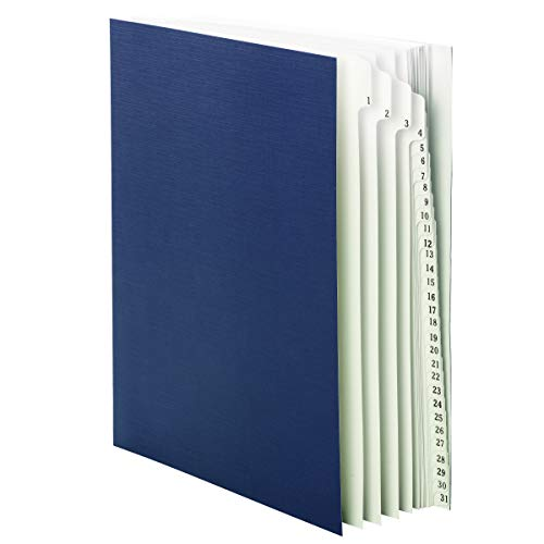 Smead Desk File/Sorter, Daily (1-31), 31 Dividers, Letter Size, Blue (89294)