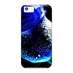 5c Scratch-proof Protection Hot Blue Rose Phone Case