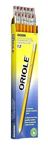 Dixon Ticonderoga Oriole Pre-Sharpened Black Core Pencils, #