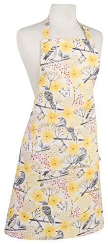 Now Designs Basic Cotton Kitchen Chef's Apron, Mockingbird Print