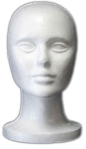 foam bald mannequin head - 1