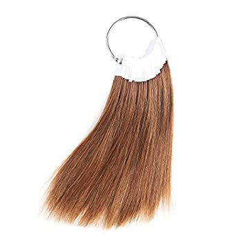 Rinboool Hair Swatches For Coloring,Pure Human Hair,Medium Brown Tone Level  3,Beauty...