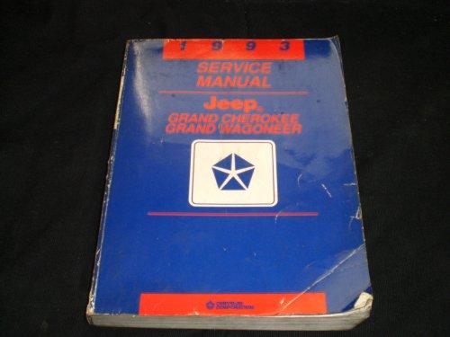 1993 Chrysler Service Manual Jeep Grand Cherokee-wagoneer
