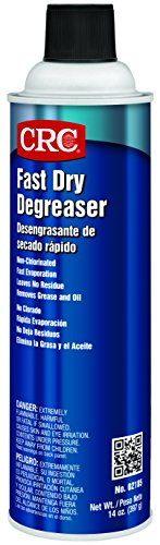 (CRC Fast Dry Liquid Degreaser, (Net weight: 14 oz.) 15 oz Aerosol Can, Clear)