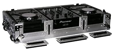 Odyssey FZPI4400W Flight Case For A Pioneer 400 Mixer And Two Pioneer 400 Cd Players