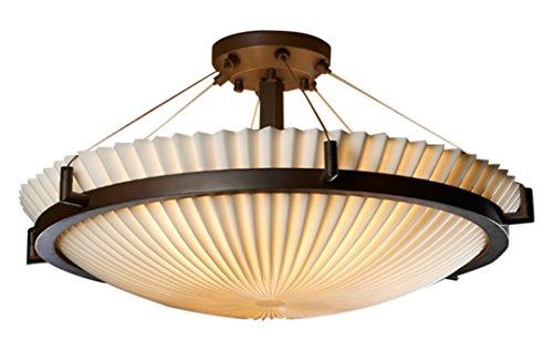 Justice Design Group Lighting PNA-9682-35-PLET-DBRZ-LED5-5000 Porcelina-Ring 27
