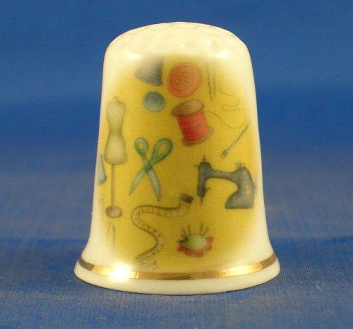Kelkay-Ditale per cucire in porcellana cinese a forma di ape Birchcroft China