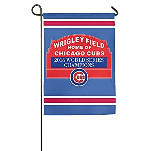 Chicago Cubs 2016 World Series Champions One-Sided,Decorative Nylon Family Garden Flag 18*27inch