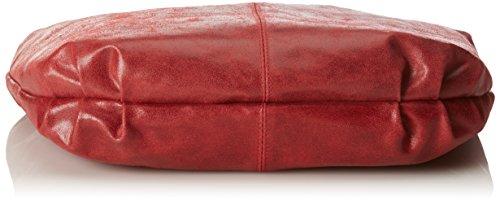 100 da Donna pelle 45x35x4cm in CTM Spalla Vera Made Borsa in pelle Rosso Italy da Sacca 5Sq8xPEvw