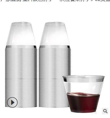 Chiic - Vasos desechables de plástico desechables con borde ...