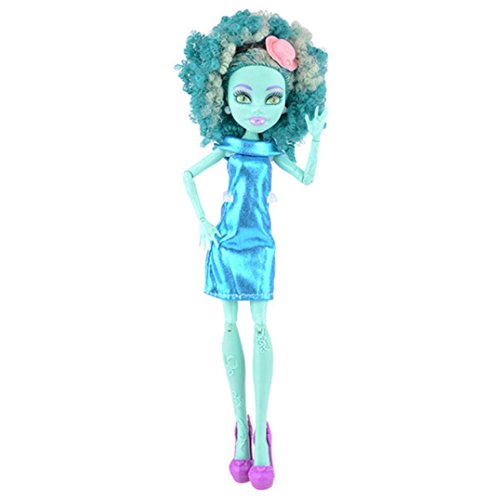 Amiley Fashion Handmade Princess Dress Clothes Gown for Monster High Doll Birthday Gift (A) -