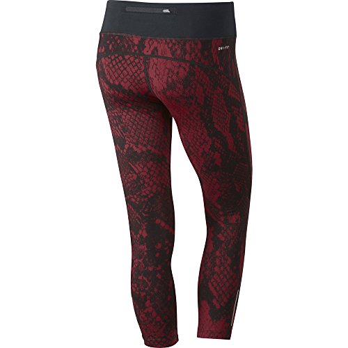 Nike Women's Epic Lux Crop Running Tights-Red/Black