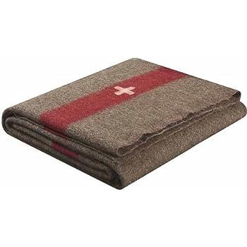 70604b9999 Amazon.com  Swiss Army Style Wool Chestnut Blanket 2700