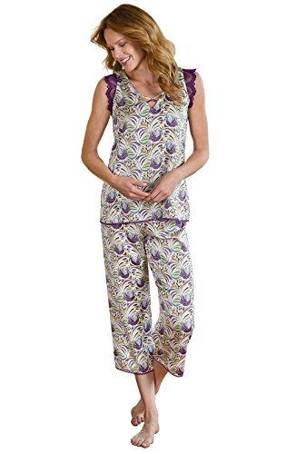 atin Swirls Capri Pajamas, multicolored, Sml (4-6) (Royalty Pajamas)