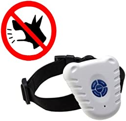Safe Ultrasonic Dog Pet Stop Barking Anti Bark Training Control Collar // Parada segura mascota