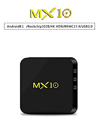 NEW R-TV BOX MX10 4G DDR3 RAM 32G ROM Rockchip RK3328 Android 8.1 Quad Core 64-Bit 4K USB 3.0 UHD WiFi H.265 TV Box Media Player