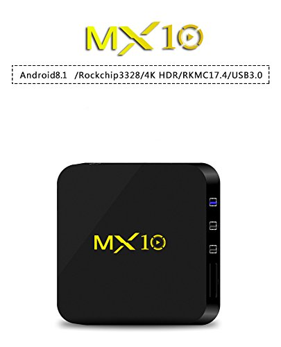 NEW R-TV BOX MX10 4G DDR3 RAM 32G ROM Rockchip RK3328 Android 8.1 Quad Core 64-Bit 4K USB 3.0 UHD WiFi H.265 TV Box Media Player by omikai