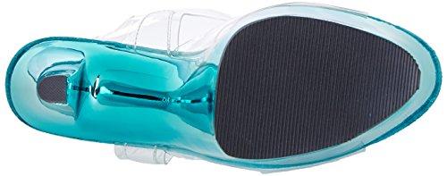 Sky Chrome Pleaser Femme Plateforme turquoise Clr 308 Sandales aq841