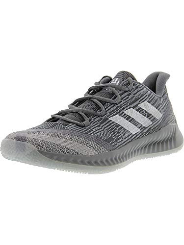 adidas Men's Harden B/E 2 Grey/Cloud White Blue Tint Ankle-High Basketball Shoe - 12M