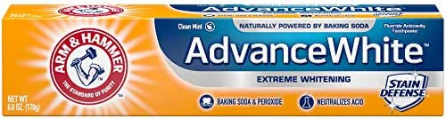 Arm & Hammer Advance White Extreme Whitening Toothpaste, Fresh Mint, 6 Ounce (Pack of 12)