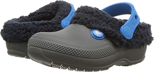 Crocs Classic Blitzen III Clog K, Slate Grey/Navy, 1 M US Little Kid (Boys Toddler Lined Crocs)