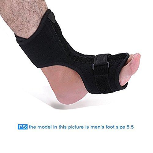 Plantar Fasciitis Dorsal Night Splint for Heel Pain Relief -Foot Drop Orthotic Brace for Sleep Support with Plantar Fasciitis Socks & Hard Spiky Massage Ball Fits Left and Right Foot – DiZiSports Store