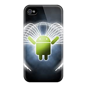 Top Quality Case Cover For Iphone 4/4s Case With Nice Angelic Droid Appearance