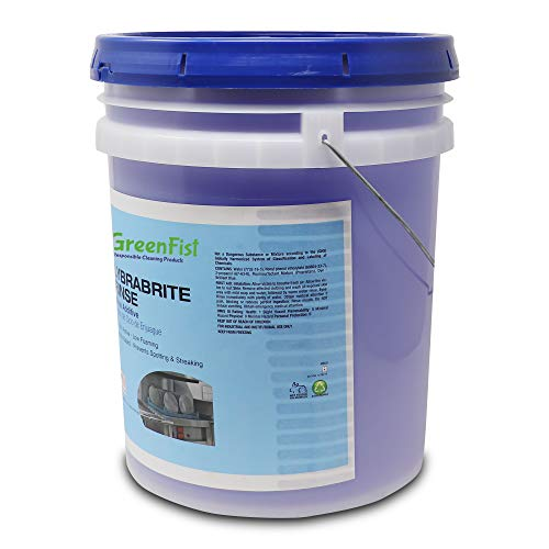 Lybrabrite Commercial Dishwasher Rinse Additive Aid & Agent [Ready-to-Use] For Industrial Machines, 5 Gallon Pail by GreenFist (Image #2)