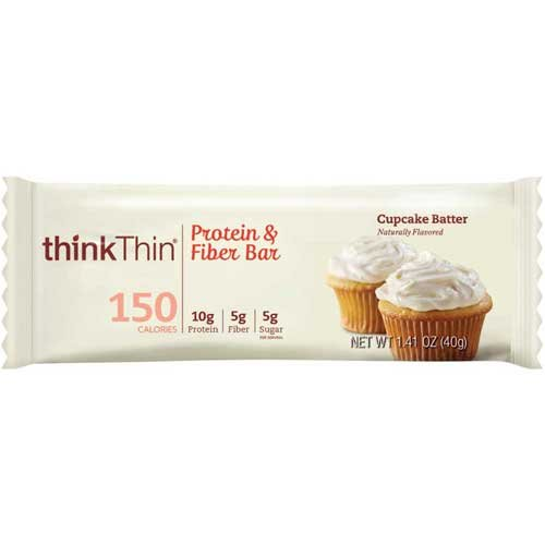 Think Thin Cupcake Batter Protein and Fiber Bar, 1.41 Ounce -- 120 per case. by thinkThin