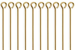 50 Pieces 14Kt Gold Filled Eye Pins 24 Gauge 1.5 inch