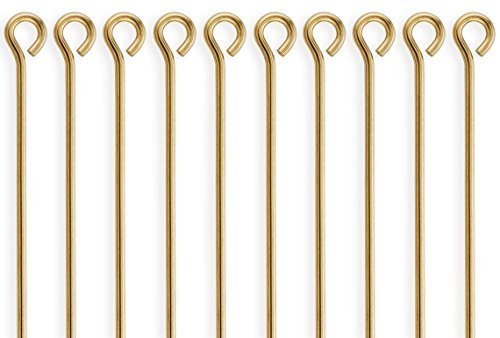 50 Pieces 14Kt Gold Filled Eye Pins 22 Gauge 1 inch